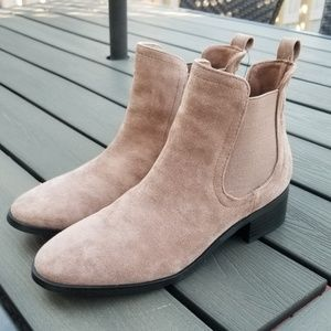 New Forever 21 Faux Suede Taupe Tan Booties size 6